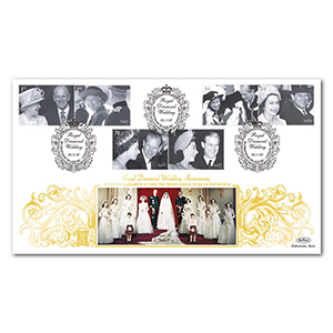 2007 Diamond Wedding Stamps Special Gold Cover