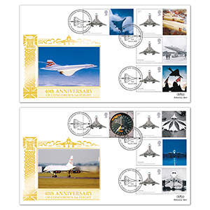2009 Concorde 40th Anniversary Generic Sheet Special Gold Pair