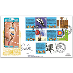 2009 Olympic and Paralympic Games Comm. Sheet. 1 Special Gold - Cover 1 - Signed by Lord Coe