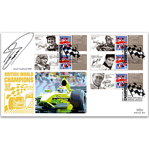 2010 Grand Prix Commemorative Sheet Special Gold Cover 2 - Signed by David Coulthard MBE