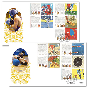 2010 Olympic & Paralympic Games Commemorative Sheet II Special Gold - Pair