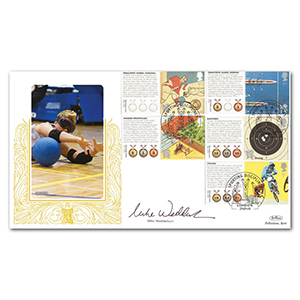 2010 Olympic & Paralympic Games Comm. Sheet II Special Gold - Cover 2 - Signed by Mike Wedderburn