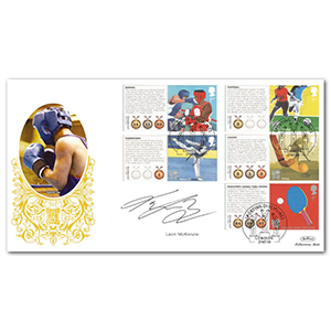 2010 Olympic & Paralympic Games Comm. Sheet II Special Gold - Cover 1 - Signed by Leon McKenzie