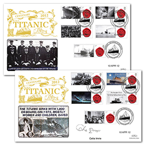 2012 Titanic Centenary Commemorative Sheet Special Gold - Pair