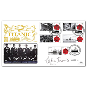 2012 Titanic Centenary Commemorative Sheet Special Gold - Cover 1 - Signed by Celia Imrie