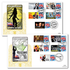 2012 James Bond 50th Commemorative Sheet - Special Gold Pair