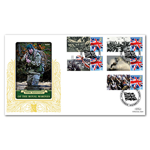 2014 Royal Marines 350th Comm. Sheet Special Gold - Cover 2