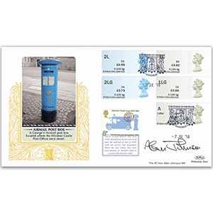 2014 Post & Go New Values Special Gold Cover - Signed by Alan Johnson