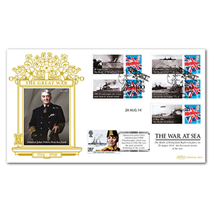 2014 WWI The War at Sea Commemorative Sheet Special Gold Cover