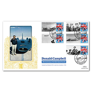 2014 Donald Campbell Commemorative Sheet Special Gold - Cover 1