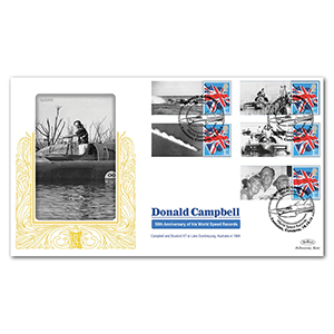 2014 Donald Campbell Commemorative Sheet Special Gold - Cover 2