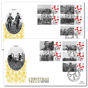 1914 Christmas Truce Commemorative Sheet Special Gold Pair