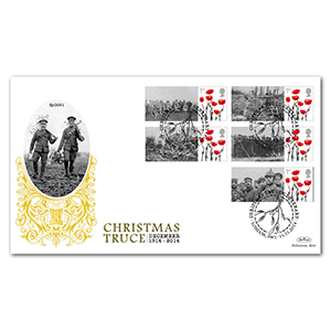 1914 Christmas Truce Commemorative Sheet Special Gold - Cover 1
