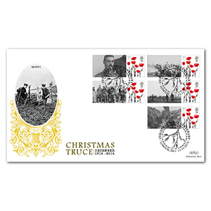 1914 Christmas Truce Commemorative Sheet Special Gold - Cover 2