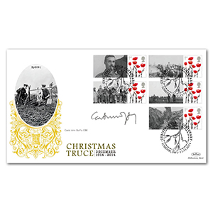 1914 Christmas Truce Commemorative Sheet Special Gold - Cover 2 - Signed by Carol Ann Duffy