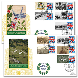 2015 Post Office Rifles Commemorative Sheet Special Gold Pair