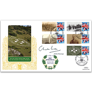 2015 Post Office Rifles Comm. Sheet Special Gold - Cover 2 - Signed by Charles Messenger