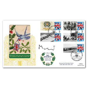 2015 Post Office Rifles Comm. Sheet Special Gold - Cover 1 - Signed by General Sir Nicholas Carter