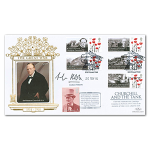 2015 WWI - Churchill and the Tank Special Gold Cover - Signed by Andrew Roberts