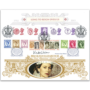 2015 Long to Reign Over Us Special Gold Cover - Signed Prof. Kate Williams