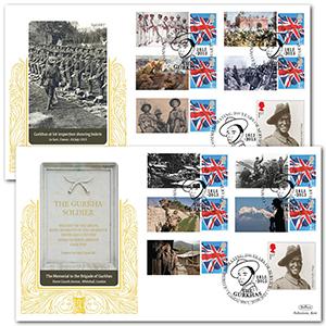 2015 Gurkhas Commemorative Sheet Special Gold Pair