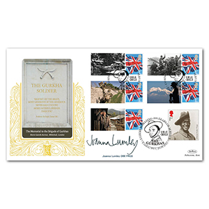 2015 Gurkhas Comm. Sheet Special Gold - Cover 2 - Signed by Joanna Lumley