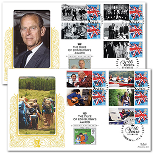 2016 Duke of Edinburgh Award Diamond Anniversary Comm. Sheet Special Gold Pair