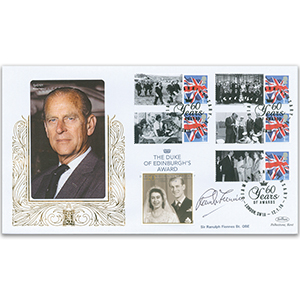 2016 Duke of Edinburgh Diamond Anniversary Special Gold Cover - Signed by Sir Ranulph Fiennes