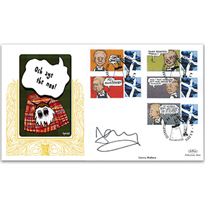 2016 Oor Wullie Commem.Sheet Special Gold Cover 2 Signed Danny Wallace