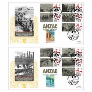 2016 Anzac Commemorative Sheet SPECIAL GOLD PAIR