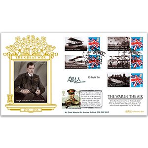 2016 WW1 Special Gold Cover - 'The War in the Air' - Signed Air Cheif Marshall Sir Andrew Pulford