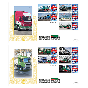 2016 Eddie Stobart Commemorative Sheet - Special Gold Pair