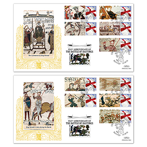 2016 Battle of Hastings Comm Sheet Special Gold Pair