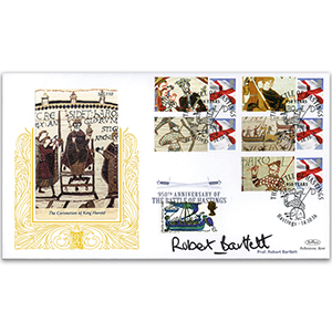 2016 Battle of Hastings Comm Sheet Special Gold - Cover 1 Signed Prof Robert Bartlett