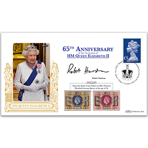 2017 65th Anniversary Accession of QEII Special Gold Cover - Signed Robert Hardman