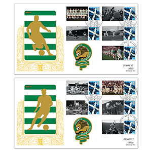 2017 Lisbon Lions Commemorative Sheet - Benham Special Gold Pair of Covers