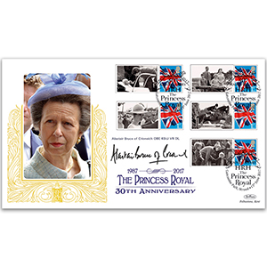 2017 Princess Royal Commemorative Sheet Special Gold - Cover 1 Signed Alastair Bruce of Crionaich