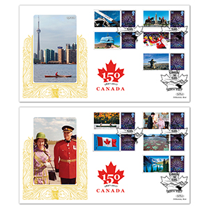 2017 Canada Commemorative Sheet Special Gold Pair