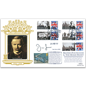 2017 British Politicians and the Home Front - Signed Dan Snow MBE Special Gold Cover