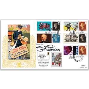 2017 Postal Museum Comm. Sheet Special Gold - Cover 1 Signed Samuel West