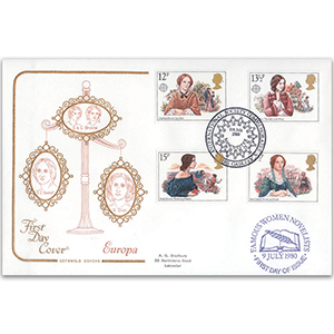 1980 Famous Authoresses Cotswold - 'International Society Commemorates Mrs. Gaskell' Handstamp