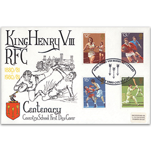1980 Sport - King Henry VIII RFC Official - Coventry