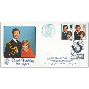 1981 Royal Wedding - Signed by Col. RA StG Martin