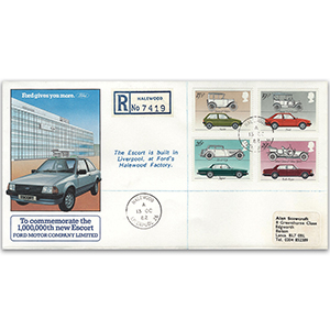 1982 Cars - Millionth Escort cover - Haleword, Liverpool CDS