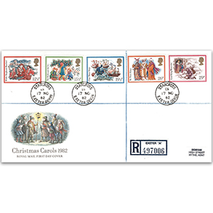 1982 Christmas - Royal Mail FDC - Starcross