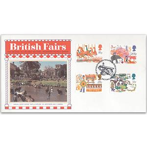 1983 British Fairs PPS Silk - Postmarks Vary