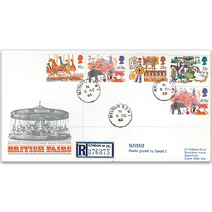 1983 British Fairs Royal Mail FDC - Mayfair CDS