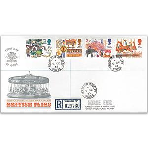1983 British Fairs - Royal Mail FDC - Horse Fair, Rugeley CDS