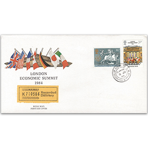 1984 London Economic Summit - Royal Mail FDC - House of Commons CDS