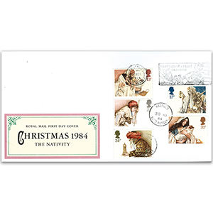 1984 Christmas - Hastings - Royal Mail FDC